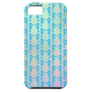 Pretty Seahorse Pattern. Blue and Pastel Multi. iPhone SE/5/5s Case