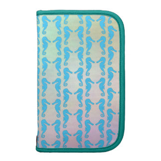 Pretty Seahorse Pattern. Blue and Pastel Multi. Planners