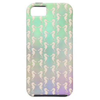Pretty Seahorse Pattern in Pastel Colors iPhone SE/5/5s Case