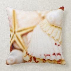 Pretty Seashells Throw Pillow