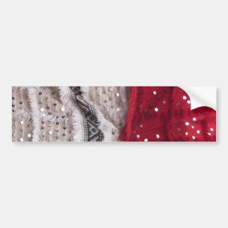 Pretty Sequin Fabric Bumper Sticker