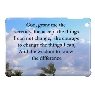 PRETTY SERENITY PRAYER PALM TREE PHOTO DESIGN iPad MINI COVERS