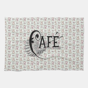 Pretty Shabbychic French Floral Café Design Kitchen Towel