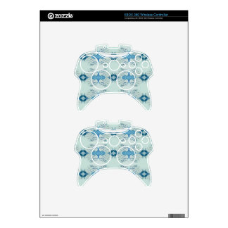 Pretty Shades of Blues In Modern Pattern Xbox 360 Controller Skins
