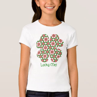 Pretty shamrock and hearts St. Patrick's day kids T-Shirt