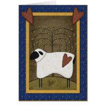 Pretty Sheep Country Scene - Blank Inside Card