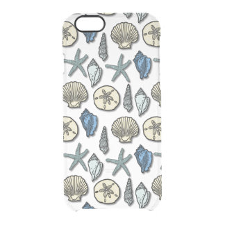 Pretty Shell Starfish Sea Pattern Uncommon Clearly™ Deflector iPhone 6 Case