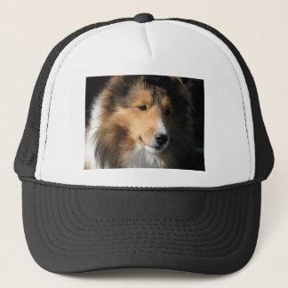 Pretty sheltie face trucker hat