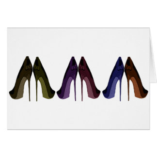 Pretty Shoes All In A Row Art Cards