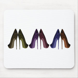 Pretty Shoes All In A Row Art Mouse Pad