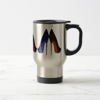 Pretty Shoes All In A Row Art 15 Oz Stainless Steel Travel Mug