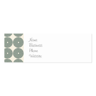 Pretty Silver Circles Pattern Disks Buttons Business Card