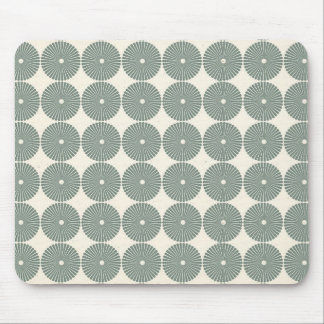 Pretty Silver Circles Pattern Disks Buttons Mouse Pad