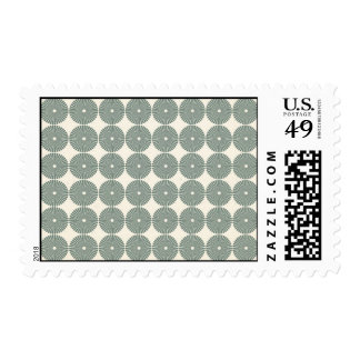 Pretty Silver Circles Pattern Disks Buttons Postage