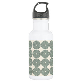 Pretty Silver Circles Pattern Disks Buttons Stainless Steel Water Bottle
