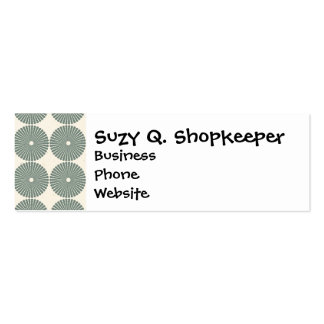 Pretty Silver Gray Circles Pattern Disks Buttons Business Cards