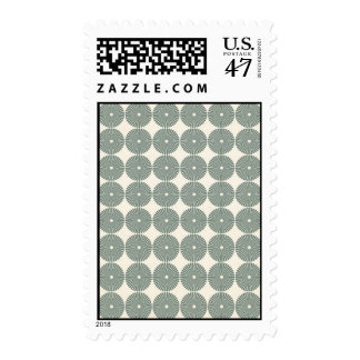 Pretty Silver Gray Circles Pattern Disks Buttons Postage