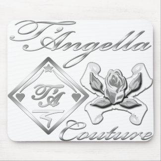 Pretty silver/white logo mousepad