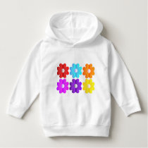 Pretty simple colors white flowers graphics art hoodie