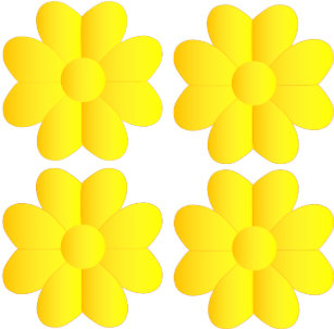 Four hearts flower pattern gifts on zazzle pretty simple yellow white flowers graphics art tote bag mightylinksfo