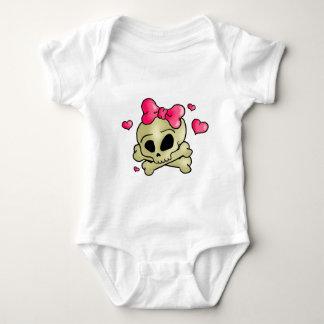 Pretty skull baby bodysuit