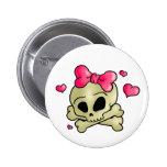 Pretty skull button