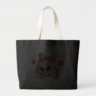 Pretty skull canvas bag