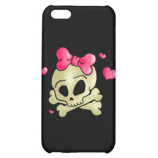 Pretty skull cover for iPhone 5C