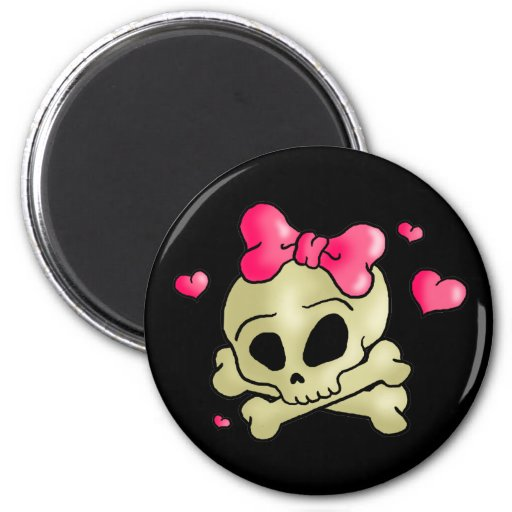 Pretty skull magnets
