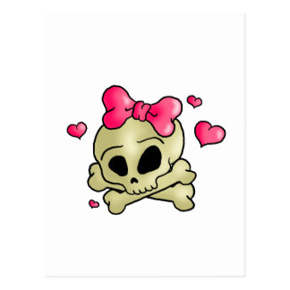 Pretty skull postcard