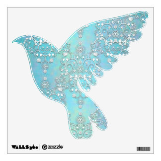 Pretty Sky Blue and White Dove Wall Decal