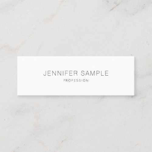 Pretty Sleek Design Professional Plain Elegant Mini Business Card