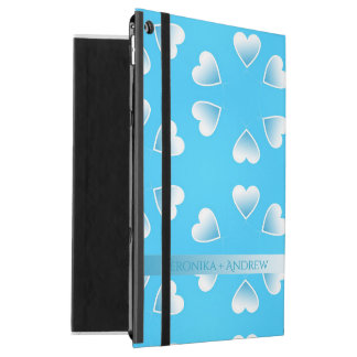 "Pretty small blue hearts. Add your own text. iPad Pro 12.9"" Case"