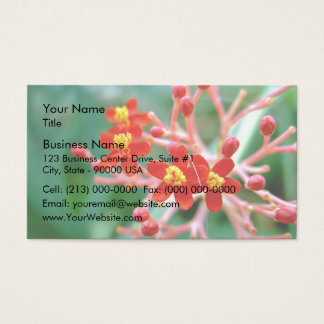 Pretty Small Red buds and flowers Business Card