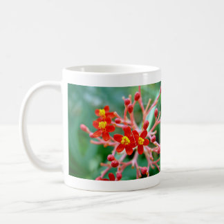 Pretty Small Red buds and flowers Classic White Coffee Mug