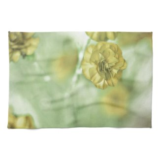 Pretty Small Yellow Flowers Towel