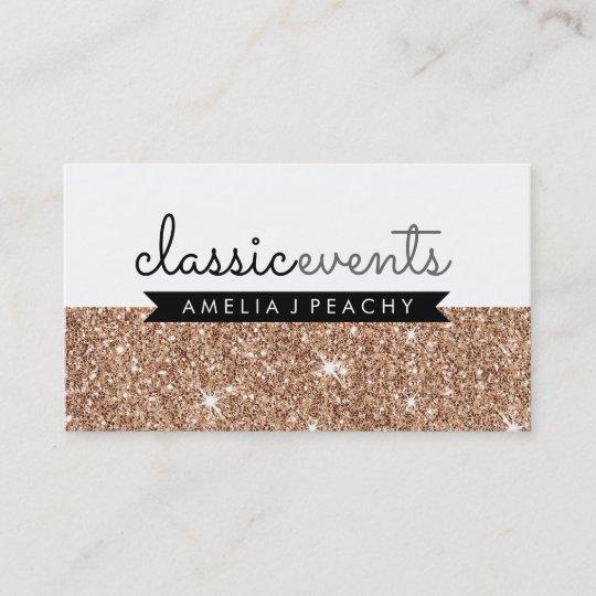 Pretty smart modern simple cute rose gold glitter business card pretty smart modern simple cute rose gold glitter business card colourmoves