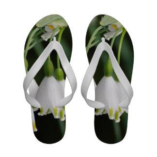 Pretty Snow Drop Lilies Flip-Flops