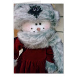 """""""PRETTY SNOW WOMAN"""" CHRISTMAS WISHES GREETING CARD"""