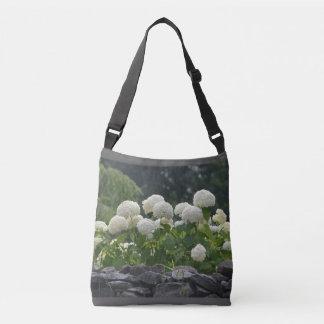 Pretty Snowball Bush Floral Crossbody Bag