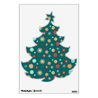Pretty Snowflake Ornaments Christmas Tree Wall Stickers
