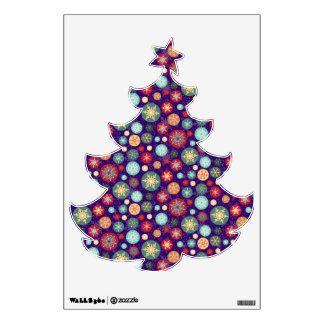 Pretty Snowflake Ornaments Christmas Tree Room Decal