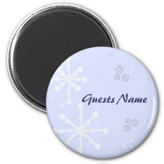 Pretty Snowflake Place Holders 2 Inch Round Magnet