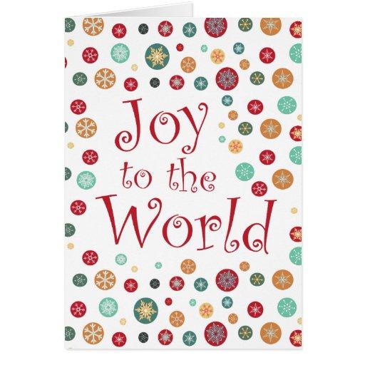 Pretty Snowflake Polka Dot Happy Holidays Card