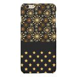 Pretty Snowflakes and Stars Matte iPhone 6 Plus Case
