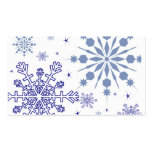 Pretty Snowflakes Double-Sided Standard Business Cards (Pack Of 100)