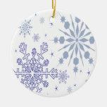 Pretty Snowflakes Christmas Tree Ornament