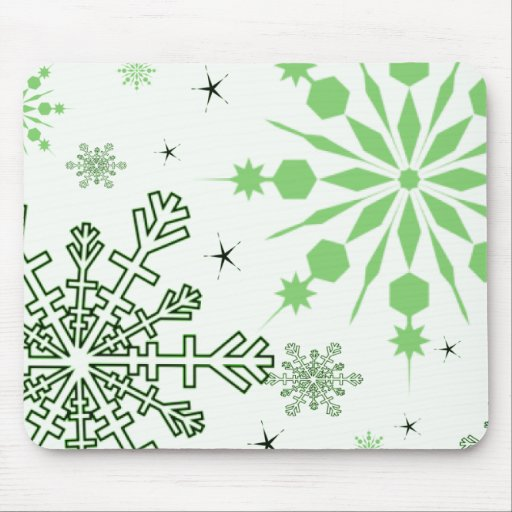 Pretty Snowflakes Mouse Pad