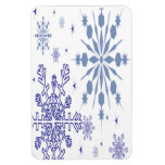 Pretty Snowflakes Rectangle Magnets