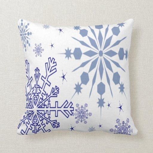 Pretty Snowflakes Throw Pillow